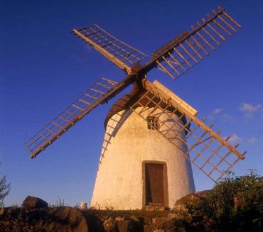 Windmühle auf den Azoren