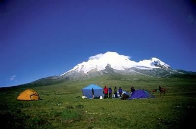 Rund um Vulkan Antisana lässt sich von Quito aus die Andenlandschaft Ecuadors erkunden. (Foto Quito Visitors' Bureau)