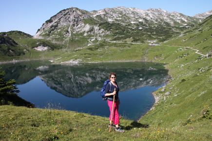 Der Startpunkt für den Lechweg liegt unweit des Formarinsees. (Foto Karsten-Thilo Raab)