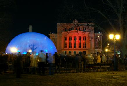 Lichtkunst in Riga