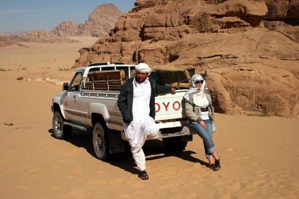 Ohne Allrad geht für Fahrzeuge im Wadi Rum nichts. (Foto Karsten-Thilo Raab)