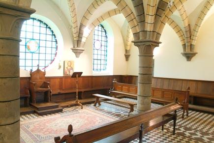 salle du chapitre Belgique Wallonie Aubel Abbaye du Val Dieu brasserie