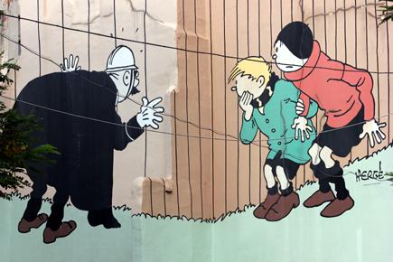 Comic-Wand in der Hoogstraat in Brüssel. Copyright Karsten-Thilo Raab