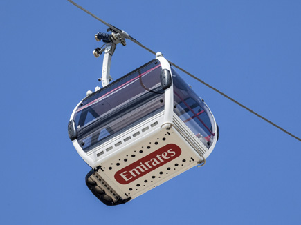 Emirates Airline, a cable car crossing of the Thames