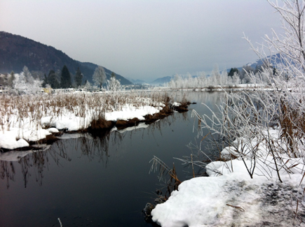 Walchsee im Winter, Foto Tedda Roosen