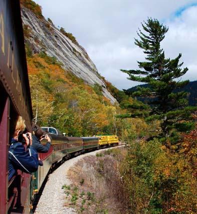 Auf Motivsuche mit der Conway Scenic Railroad. (Copyright Discover New England)