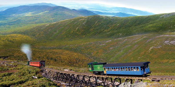 Großartiges Panorama in den White Mountains (Copyright Cog Railway