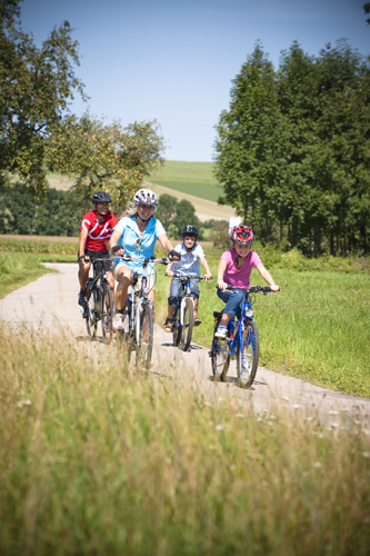 Auch familiengerechte Touren finden sich in Oberösterreich in Ostbayern.