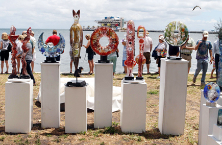 Kunstfestival mit Blick auf die Tampa Bay: