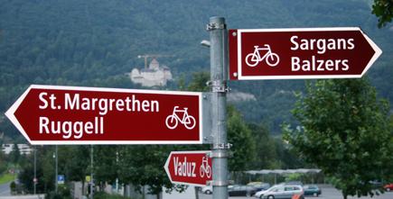 Das Fürstentum Liechtenstein verfügt über ein gut ausgebautes Radwegnetz. (Copyright Karsten-Thilo Raab)