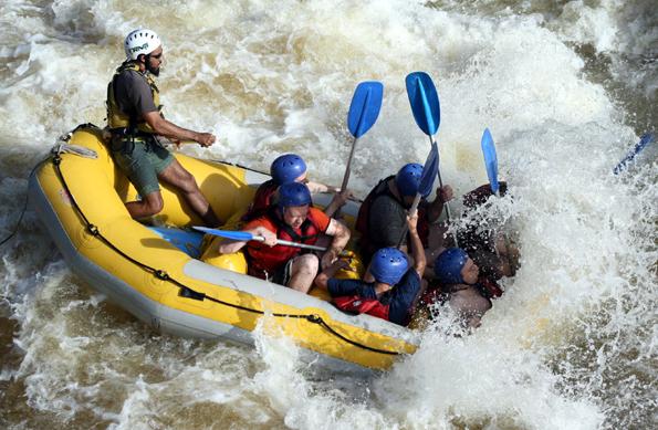 Die wilde Seite West Virginias können Wagemutige beim Rafting kennen lernen. (Copyright Karsten-Thilo Raab)