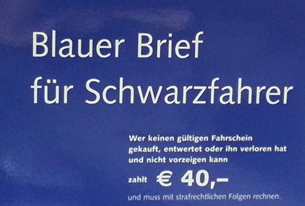 In Deutschland wird Schwarzfahren mit 40 Euro bestraft. (Copyright Karsten-Thilo Raab)