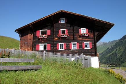 Walser-Hus in Warth. (Copyright Karsten-Thilo Raab)