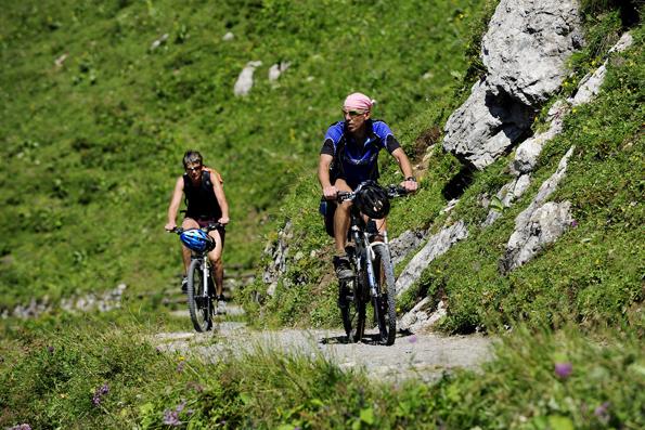 Ideale Bedingungen finden Mountainbiker in der alpinen Bergwelt Liechtensteins.