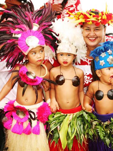 Farbenfroh und bunt sind nicht nur die Feste auf Tahit. (Foto: Grégoire La Bacon)