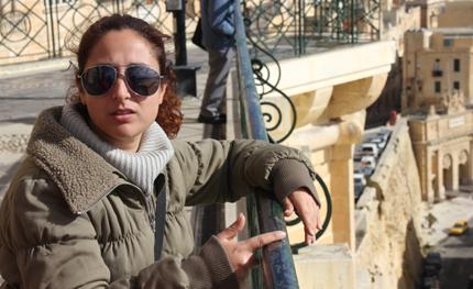 Audrey Marie Bartolo am Aussichtspunkt der Upper Barracca Gardens. (Foto: Karsten-Thilo Raab)