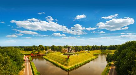 Historisch bedeutsam: Die Bourtange Festung bei Groningen.
