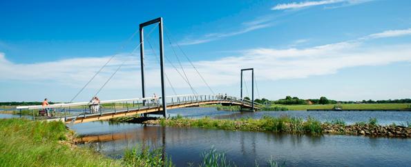 Muss bei Touren rund um Groningen überbrückt werden: Das Oldambtmeer
