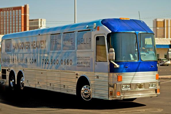 Sorgt in 45 Minuten für Ernüchterung: Der Ausnüchterungsbus in Las Vegas. (Foto: Hangover-Heaven)