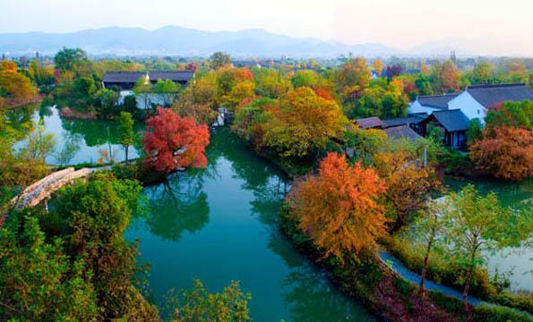 Herbstliche Atmosphäre in den Xixi Feuchtgebieten ( Foto Hangzhou Tourism Commission)