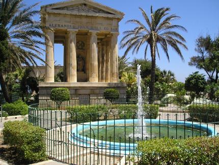 Grüne Lunge im Herzen Vallettas: Die Lower Barracca Gardens.