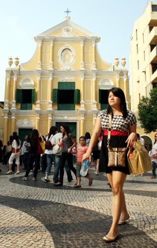 Grandioses portugiesisches Erbe in Macau: Die St. Dominic's Kirche. (Foto: Karsten-Thilo Raab)