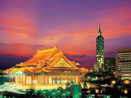 Stimmungsvoller Blick auf die Hauptstadt Taipeh.