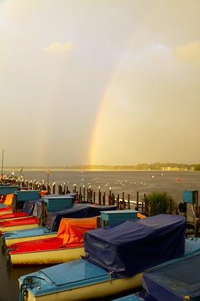Grandiose Farbenspiel am Zwischenahner Meer. (Foto: Udo Haafke)