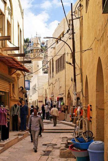 Die Haman Straße in der Altstadt von As-Salt.