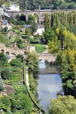 Idyllisch: Die Flüsse Petruss und Alzette fließen durch Luxemburg. (Foto: LCTO)