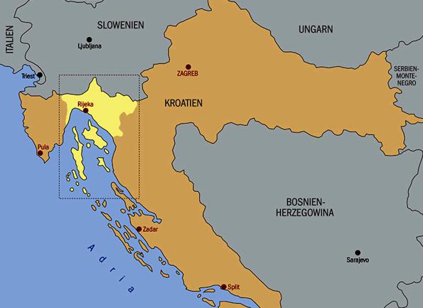 Landkarte Region Kvarner, Copyright Renner & Partner