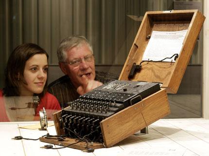 Auch eine Dechiffriermaschine fehlt nicht in der Oberhausener Sammlung. (Foto: Top Secret)