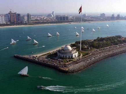Abu Dhabi aus der Vogelperspektive.