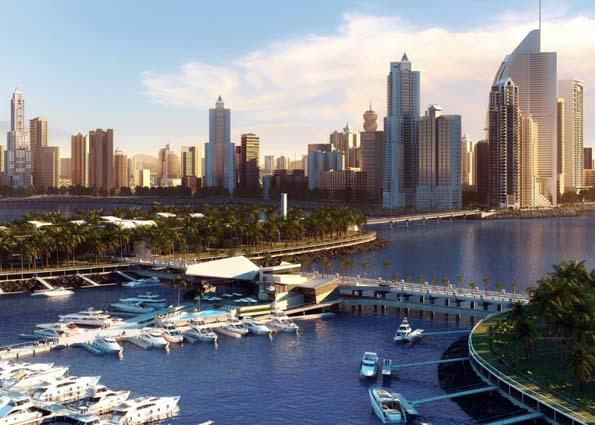 Durch die künstlichen Inseln erweitert Panama City seine Flächen und erhält ein neues, attraktives Gesicht.