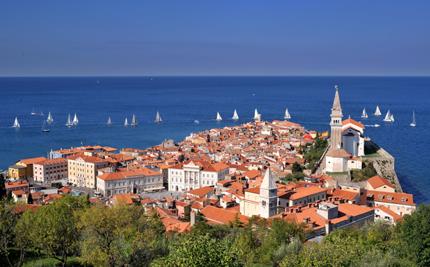 Slowenisches Adria-Glück: Die malerische Hafenstadt Piran. (Foto: Portoroz/Piran)