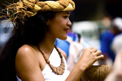 Tradition wird auf Tahiti - wie hier beim Festival des arts des Marquises, - groß geschrieben. (Foto: Xavier Lancry)