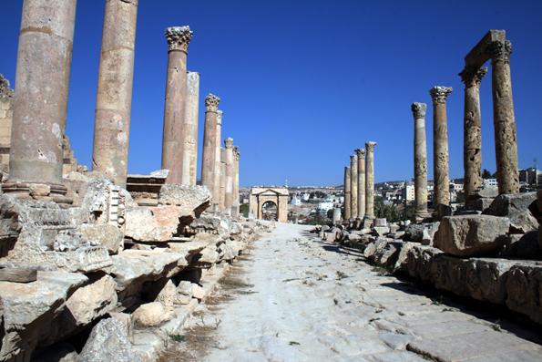 Ein prächtig erhaltenes Stück römischer Geschichte in Jordanien: Die Ausgrabungsstätte in Jerash. (Foto: Karsten-Thilo Raab)