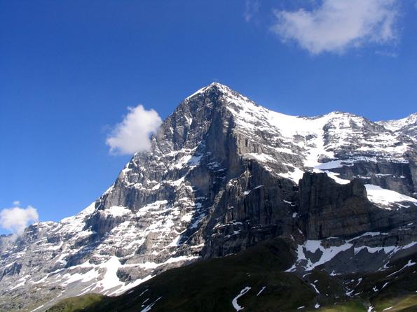 Mythos in den Alpen: Die Eger-Nordwand. (Foto Dirk Beyer)