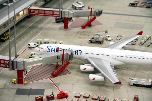 Asiatisches Flair herrscht nurn am Flughafen Knuffingen im Hamburger Miniaturwunderland.