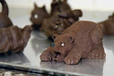 Schmackhaft und phantasievoll: Die Schokoladenkreationen von  Emmanuel Briet. (Foto: Udo Haafke)