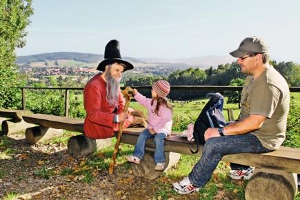 """Die """"sagenhaften Touren"""" mit dem Müllergesellen Pumphut und dem Räuberhauptmann Karasek sind ein einzigartiges Erlebnis für die ganze Familie. (Foto:Uwe Schwarz)"""