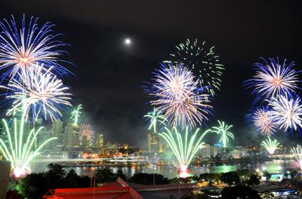 Abgerundet wird das Brisbane Festival einmal mehr mit einem spektakulären Feuerwerk.