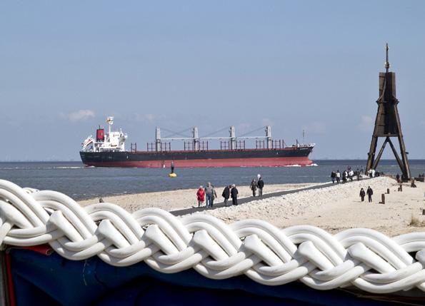 Ab sofort barrierefrei zu erreichen: die Kugelbake, Cuxhavens hölzernes Wahrzeichen (Foto: Nordseeheilbad Cuxhaven GmbH)