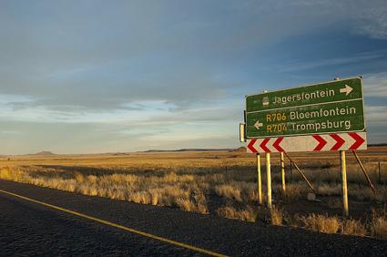 Gut ausgebaut und ausgeschildert sind die Routen durch Südafrikas Free State. (Foto South Africa Tourism)