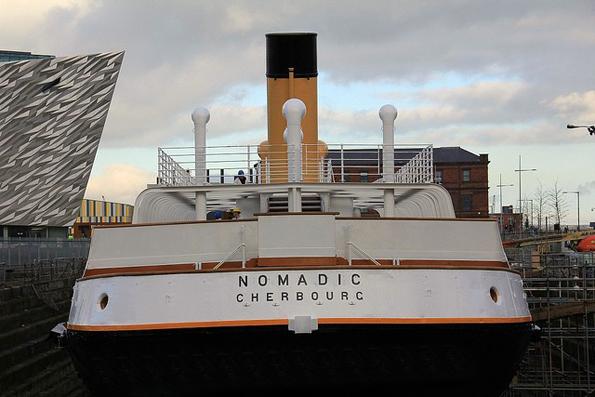 Erstrahlt im neuen Glanz: Die SS Nomadic, die als Zubringerschiff zur Titanic für die Passagiere der 1. und 2. Klasse eingesetzt war.