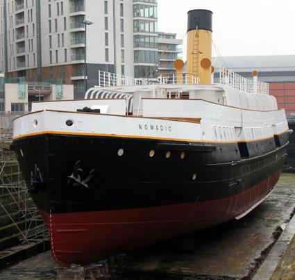 Die SS Nomadicwurde 1911 von denselben Kons trukteuren in der Werft von Harland & Wolff erbaut wie ein Jahr später die Titanic.