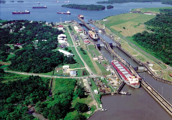 Verbindet seit 100 Jahren den Pazifik mit dem Atlantik: Der Panamakanal.