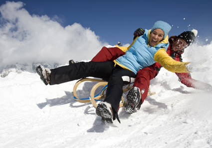 Nicht nur Skifahrer und Snowboarder kommen im Skicircus voll auf ihre Kosten.