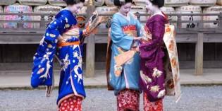 Japans goldenen Herbst auf Schusters Rappen