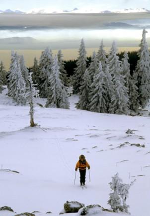 Für Langläufer finden sich in der Franche-Comté ideale Bedingungen.